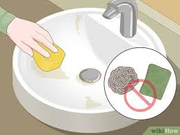 how to clean and shine a porcelain sink
