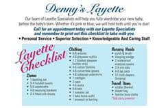 doing your layette