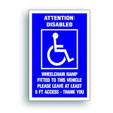 Handicap Decal Sticker Disabled Ramp 8 Buy Online In China At Desertcart