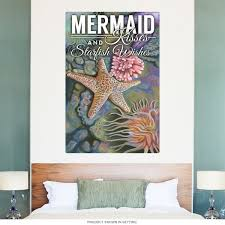 Mermaid Kisses Starfish Wishes Wall Decal At Retro Planet