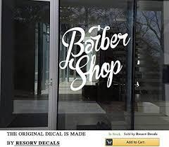 Amazon Com Wall Window Decal Sticker Barber Shop Man Salon Haircut Beard Face Tools Logo Salon Tt5884 Home Kitchen