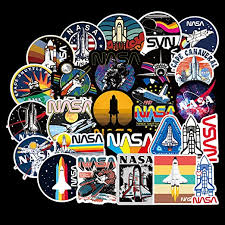 Amazon Com 50 Pcs Nasa Stickers Space Explorer Decals For Water Bottle Hydro Flask Laptop Luggage Car Bike Bicycle Waterproof Vinyl Universe Astronaut Stickers Pack Home Kitchen