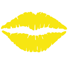 Amazon Com Kiss Wall Decal Sticker Kissing Lips Decoration Mural Decal Stickers And Mural For Kids Boys Girls Room And Bedroom Kiss Lemon Yellow Wall Art For Home Decor And Decoration