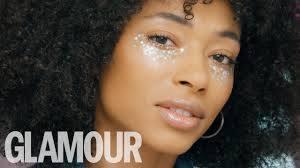 glitter festival makeup look glamour