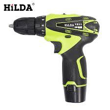 HILDA 12 V Máy Vặn Vít Khoan Nhiều chức năng Cordless Điện Screwdriver Pin  Lithium Có Thể Sạc Lại Khoan Công Cụ|không dây điện|có thể sạc lại khoan12v  điện tuốc nơ vít -