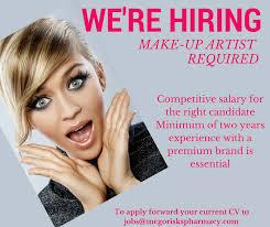 jobs as a makeup artist istant