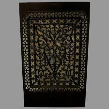 victorian cast iron fireplace screen