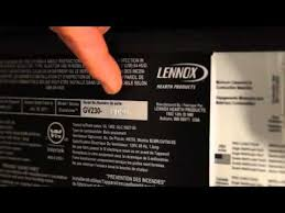 lennox hearth parts finding the serial