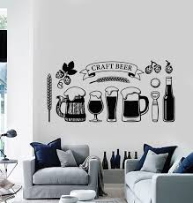 Vinyl Wall Decal Craft Beer Glass Alcohol Drinking Pub Stickers Mural Wallstickers4you