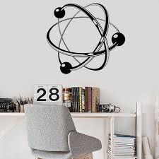 Nursery Decor Wall Letters Numbers Nursery Bedroom Decal C731 Think Like A Proton Always Positive Wall Decal Quote Science Vinyl Stickers Atom Wall Art Classroom Wall Decor Menyari Com