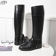 women rain boots waterproof tall lady