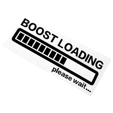 Boost Loading Reflective Material Decal Funny Gas Stickers Car Window Graphic Turbo Black Car Stickers Aliexpress