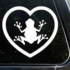 Amazon Com Tree Frog Car Stickers Vinyl Auto Scratch Cover Heart Decorative Pattern Car Decal Monogram Or Laptop Travel Case Tumbler Cups Door Luggage Bike Bicycle Sticker 12 Lvezwnbjv6w6 Toys Games