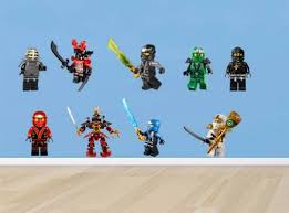 Ninjago Lego 9 Characters Decal Removable Wall Sticker Home Decor Art Bedroom Ebay