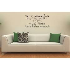 Shop Friends Are Like Quilts They Never Lose Their Warmth Vinyl Wall Decal Free Shipping On Orders Over 45 Overstock 8561232