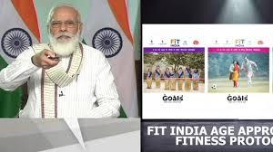 pm narendra modi launches fit india