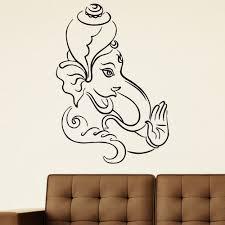 Shop Indian Elephant Meditation Wall Art Sticker Decal Overstock 11179814