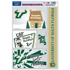 University Of South Florida Bulls Christmas Set Of 5 Ultra Decals At Sticker Shoppe