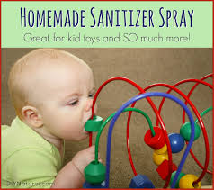 homemade sanitizer spray natural child