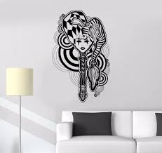 Abstract Home Decor Gothic Joker Girl Wall Sticker Gothic Girl Design Vinyl Wall Decal Home Bedroom Decoration Wall Art Ay779 Wall Stickers Aliexpress