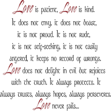 Love Is Patient Love Is Kind Wall Decals Trading Phrases