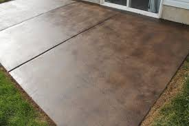 how to stain a concrete patio patio