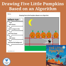 Drawing Five Little Pumpkins Based On An Algorithm Worksheet Jdaniel4s Mom