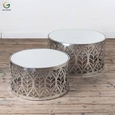 round glass coffee table sets image