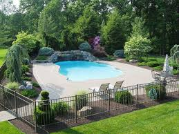 Pool Privacy Fence Ideas Great Home Decor Creative Decorative Landscaping Around Pool Ideas