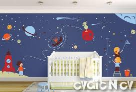 Space Wall Decals Nursery Boy Space Wall Stickers With Etsy