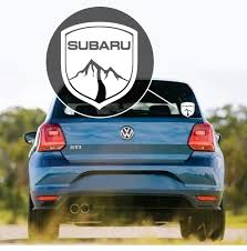 Subaru Mountain Badge Window Decal Sticker Custom Sticker Shop