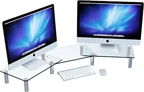 adjustable dual monitor stand riser