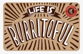 chipotle mexican grill gift card