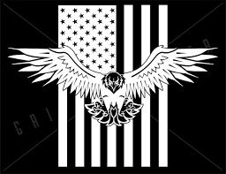 Bald Eagle American Flag Vinyl Decal Grit Style Gear Grit Gear Apparel