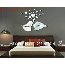 Wholesale Hot High Quality Sexy Lip Shaped Mirror Wall Sticker For Home Decoration Kx 088