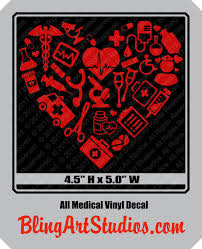 Medical Theme Car Decal Sticker Nursing Doctor Med Student Etsy Vinyl Decals Car Decals Stickers Medical Gifts