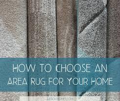 how to choose an area rug for your home
