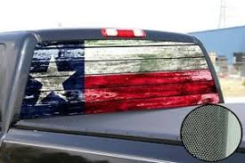 Texas Texans Flag Window Tint Decal Graphic Car Truck F150 Barnwood Dodge Jeep Ebay