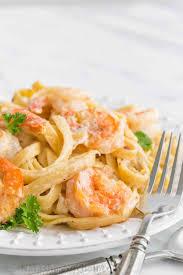 Creamy Shrimp Alfredo Fettuccine Pasta ...