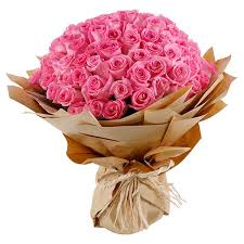 bouquet of 101 pink roses in