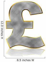 Bling Pound Symbol Wall Decal Wallmonkeys Com
