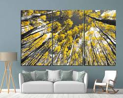 Aspen Tree Wall Art Aspen Tree Art Aspen Tree Canvas Art Aspen Trees Wall Decor Aspen Tree Panels Fall Wall Art Autumn Art Autumn Wall Art