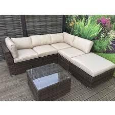 minnie rattan corner sofa with