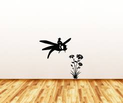 The Decal Store Com By Yadda Yadda Design Co Wall Dragonfly Rider With Flowers Wall Or Door Vinyl Decal Copyr