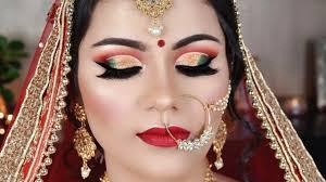 indian bridal makeup double cut crease