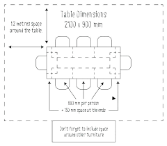 dining table size for 6 seater india