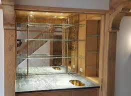 custom antique mirror backsplash and
