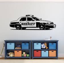 Sheriff Police Car Vinyl Wall Art Decal Kids Bedroom Wall Etsy