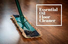 simple floor cleaner using essential