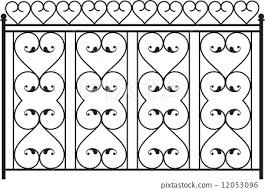 Wrought Iron Gate Door Fence Window Grill Stock Illustration 12053096 Pixta